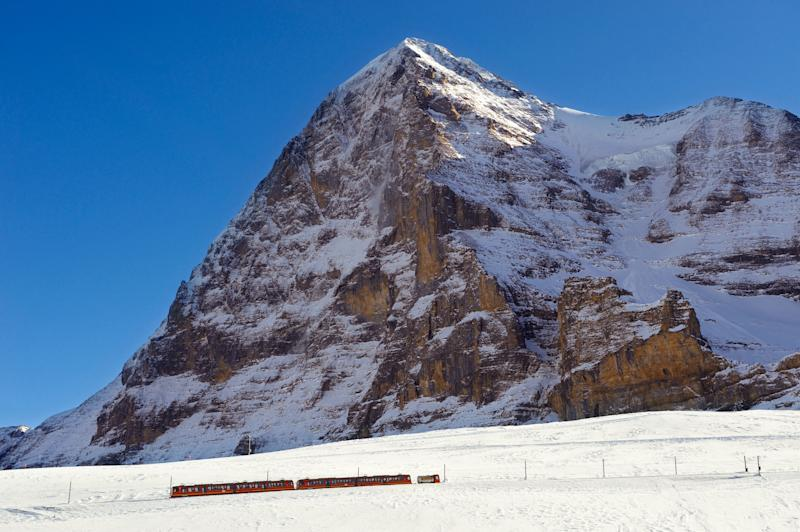 The Jungfrau cog railway in winter - Credit: ALAMY