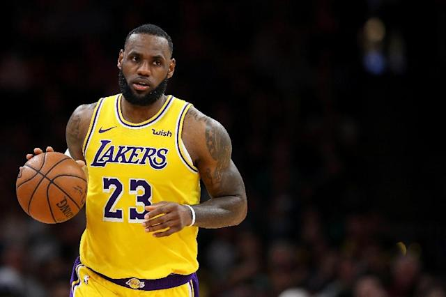"Los Angeles Lakerse star LeBron James says he has ""an aspiration"" to own an NBA club one day more than a ""dream"" to do so (AFP Photo/Maddie Meyer)"