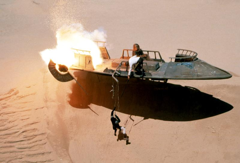 Hanging out above the deadly Sarlacc Pit in 'Return of the Jedi' (Photo: Courtesy Everett Collection)