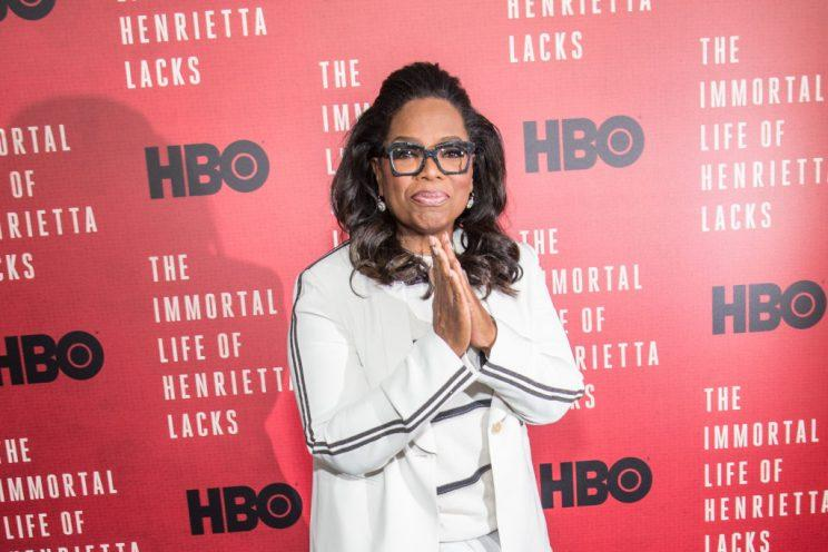 Oprah Winfrey, pictured on the red carpet on April 18, gave us an important reminder this Mother's Day. (Photo: Getty Images)