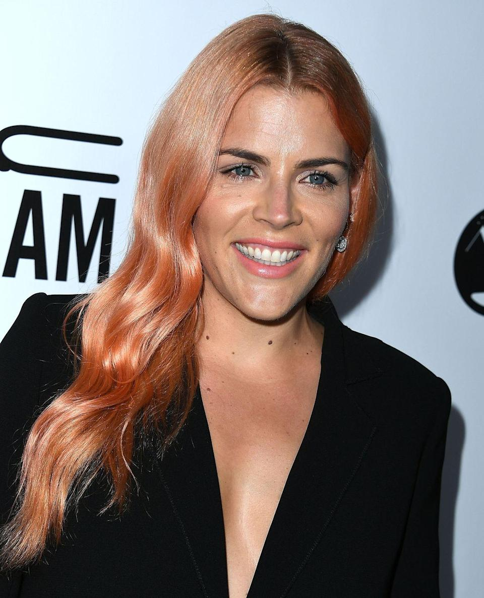 """<p>""""This is a great way to experiment with a playful color without the commitment or a full vivid shade,"""" says Papanikolas. """"Pastel balayage requires some maintenance, as these tones tend to fade quickly."""" To manage this and keep your hair as fresh as <strong>Busy Philipps</strong>', he recommends using an acid-based shampoo, like <a href=""""https://www.matrix.com/total-results/products/keep-me-vivid/keep-me-vivid-sulfate-free-shampoo"""" rel=""""nofollow noopener"""" target=""""_blank"""" data-ylk=""""slk:Matrix Total Results Keep Me Vivid"""" class=""""link rapid-noclick-resp"""">Matrix Total Results Keep Me Vivid</a>. </p>"""