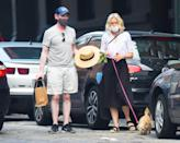 <p>Naomi Watts and Billy Crudup take their dog out for a walk in N.Y.C. on June 7.</p>