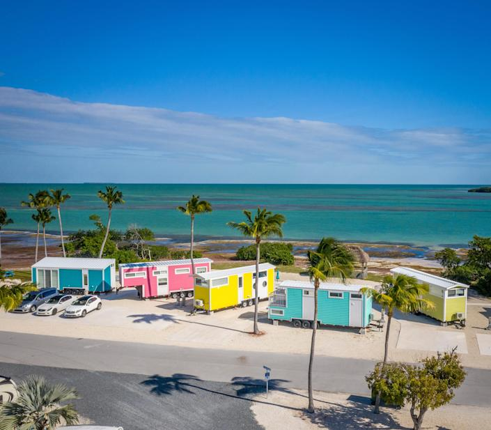 Sunshine Key Tiny House Village's homes are all under 350 square feet and individually named:  Hemingway, Isla, Kai, Lucy and Pearl.