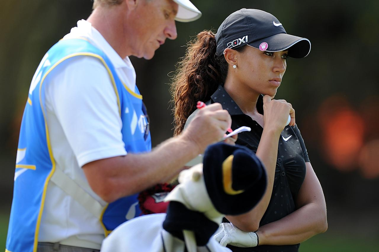 GOLD COAST, AUSTRALIA - FEBRUARY 02:  Cheyenne Woods of the United States looks on during the Australian Ladies Masters at Royal Pines Resort on February 2, 2013 on the Gold Coast, Australia.  (Photo by Matt Roberts/Getty Images)