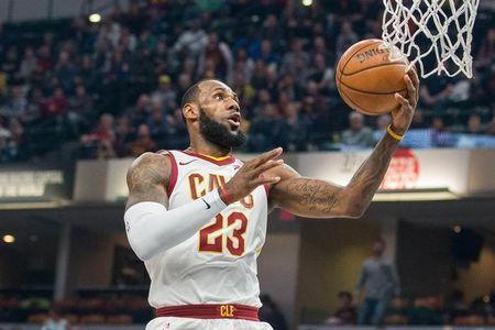 Jan 12, 2018; Indianapolis, IN, USA; Cleveland Cavaliers forward LeBron James (23) shoots the ball in the first quarter against the Indiana Pacers at Bankers Life Fieldhouse. Mandatory Credit: Trevor Ruszkowski-USA TODAY Sports