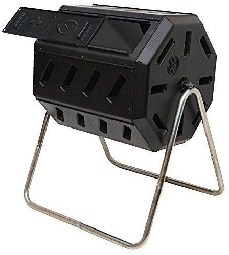 """<p><strong>FCMP Outdoor Dual Chamber Tumbling Composter</strong></p><p>amazon.com</p><p><strong>$82.16</strong></p><p><a href=""""https://www.amazon.com/dp/B009378AG2?tag=syn-yahoo-20&ascsubtag=%5Bartid%7C10050.g.35980340%5Bsrc%7Cyahoo-us"""" rel=""""nofollow noopener"""" target=""""_blank"""" data-ylk=""""slk:Shop Now"""" class=""""link rapid-noclick-resp"""">Shop Now</a></p><p>Looking to get to that good dirt a little faster? Then you'll want to turn your compost pile more often, which is where this handy barrel-sized bin comes in. Two chambers lets you switch back and forth, so one can fully break down while you add to the other. The result: finished compost in as little as two weeks—though eight weeks is more typical.</p>"""