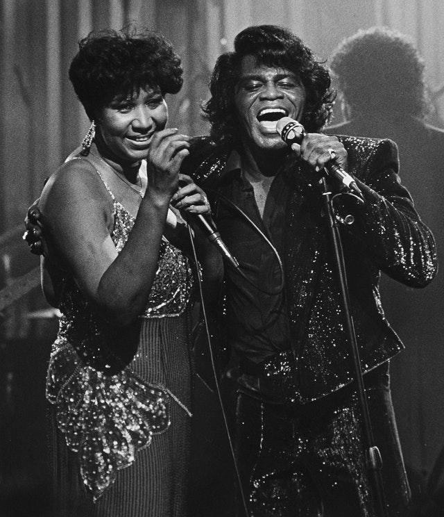 Aretha Franklin and James Brown