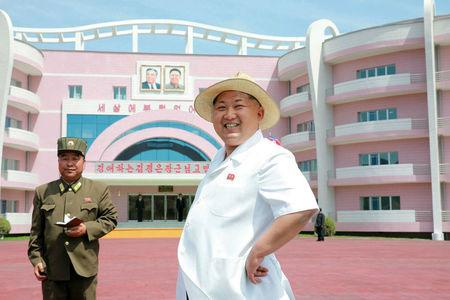 FILE PHOTO: North Korean leader Kim Jong Un provides field guidance to the Wonsan Baby Home and Orphanage in the run-up to a ceremony for their completion, in this undated photo released by North Korea's Korean Central News Agency (KCNA) June 2, 2015.  KCNA via Reuters/File Photo