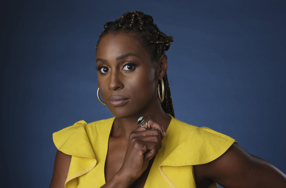 "FILE - This July 24, 2019 file photo shows Issa Rae, an executive producer of the HBO comedy series ""A Black Lady Sketch Show,"" during the 2019 Television Critics Association Summer Press Tour in Beverly Hills, Calif. Rae is looking to find up-and-coming fashion, film, music and visual art creatives from underrepresented communities. She's teaming up with LIFEWTR, PepsiCo's bottled water product line and its ""Life Unseen"" campaign. (Photo by Chris Pizzello/Invision/AP, File)"