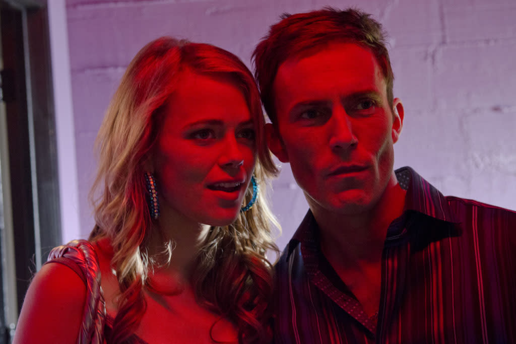 "Desmond Harrington as Joey Quinn and Katia Winter as Nadia in the ""Dexter"" episode, ""Swim Deep."""