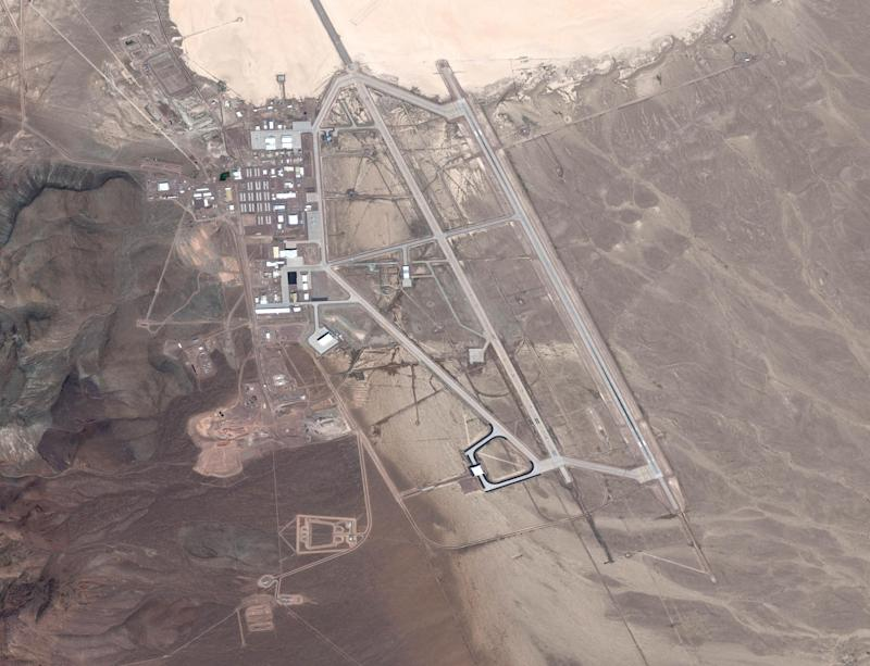 The United States Air Force facility commonly known as Area 51 is a remote detachment of Edwards Air Force Base. (DigitalGlobe/Getty Images)
