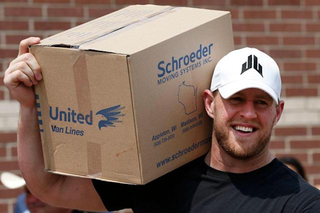 J.J. Watt's hurricane relief efforts were one of the year's best stories. (Getty)