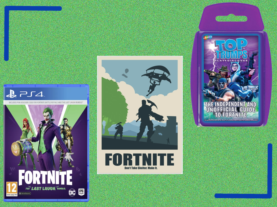 <p>From PS4 games to prints for your home, these are bound to get Fortnite fanatics excited</p> (The Independent)