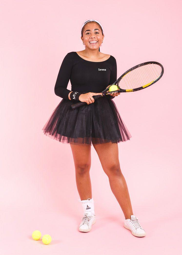 """<p>Whatever your teen chooses to do in life she's gonna smash it just like ReRe does with her racquet, so this is perfect costume for her.</p><p><strong>Get the tutorial at <a href=""""https://thehousethatlarsbuilt.com/2018/09/influential-women-halloween-costumes.html/"""" rel=""""nofollow noopener"""" target=""""_blank"""" data-ylk=""""slk:The House that Lars Built"""" class=""""link rapid-noclick-resp"""">The House that Lars Built</a>.</strong></p><p><strong><a class=""""link rapid-noclick-resp"""" href=""""https://www.amazon.com/v28-Womens-Classic-Elastic-Layered/dp/B01HMH56VG?tag=syn-yahoo-20&ascsubtag=%5Bartid%7C10050.g.22118522%5Bsrc%7Cyahoo-us"""" rel=""""nofollow noopener"""" target=""""_blank"""" data-ylk=""""slk:SHOP TUTUS"""">SHOP TUTUS</a><br></strong></p>"""
