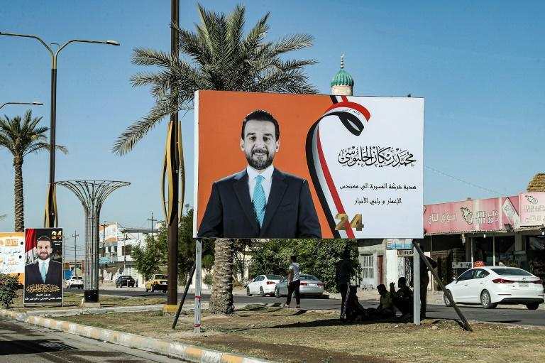 Mohammed al-Halbussi hails from the province of Anbar and is hoping to be re-elected in the October 10 poll (AFP/Sabah ARAR)