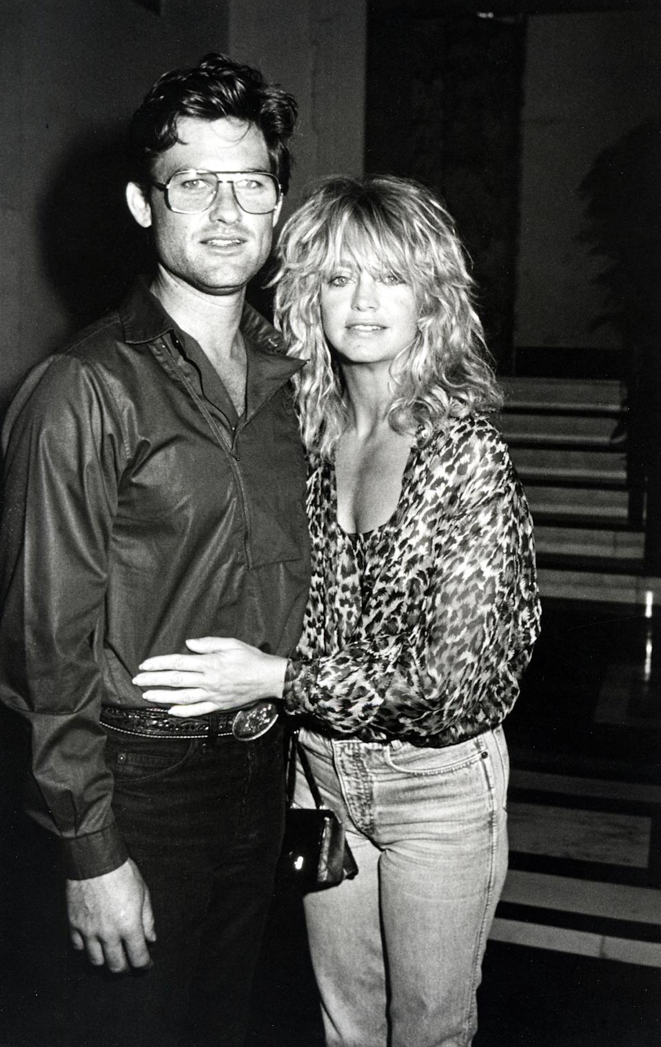 Kurt Russell and Goldie Hawn during Goldie Hawn at Carlyle Hotel at Carlyle Hotel in New York City, New York, United States. (Photo by Ron Galella/Ron Galella Collection via Getty Images)
