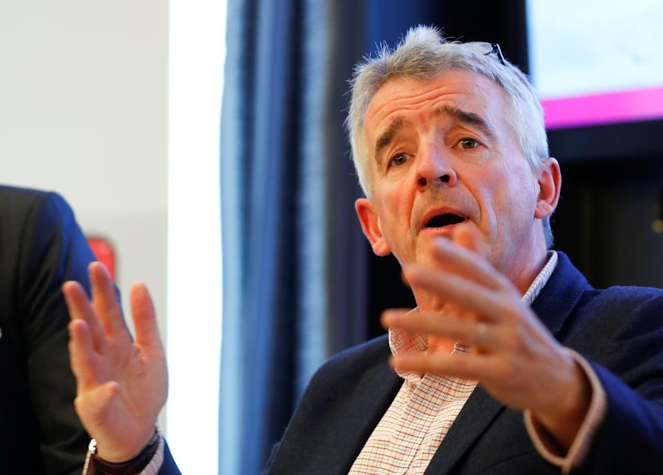 Ryanair chief Michael O'Leary is confident that travel will open up in the summer. Photo: Reuters