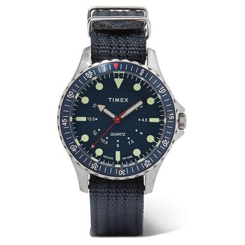 "<p><a class=""body-btn-link"" href=""https://www.mrporter.com/en-gb/mens/product/timex/navi-depth-stainless-steel-and-nylon-webbing-watch/1178870"" target=""_blank"">SHOP</a></p><p>While there's obvious merit in gifting a proper Swiss watch, dad still needs a watch for the everyday. That's where Timex steps in. With reliable insides and a classic design, its universal appeal will keep things ticking over nicely.</p><p><em>Navi Depth Watch, £115, <a href=""https://www.mrporter.com/en-gb/mens/product/timex/navi-depth-stainless-steel-and-nylon-webbing-watch/1178870"" target=""_blank"">mrporter.com</a></em></p>"