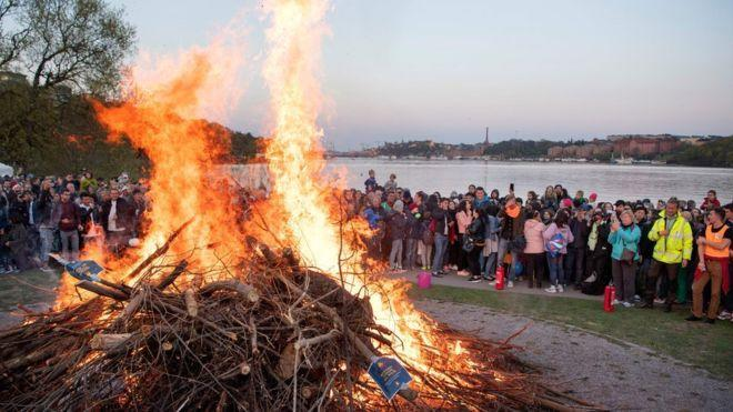 Walpurgis Night celebrations take place across Sweden every year (Getty images)