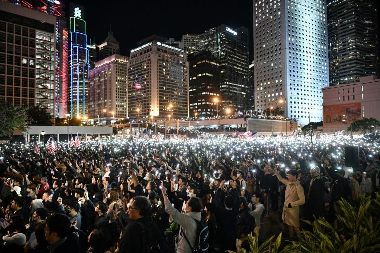 Tens of thousands of Hong Kongers -- sometimes millions -- have taken to the streets peacefully to protest China's encroachment on the city's freedoms