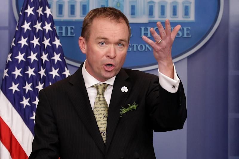 Mr Mulvaney warned Democrats to behave or there might be a government shutdown
