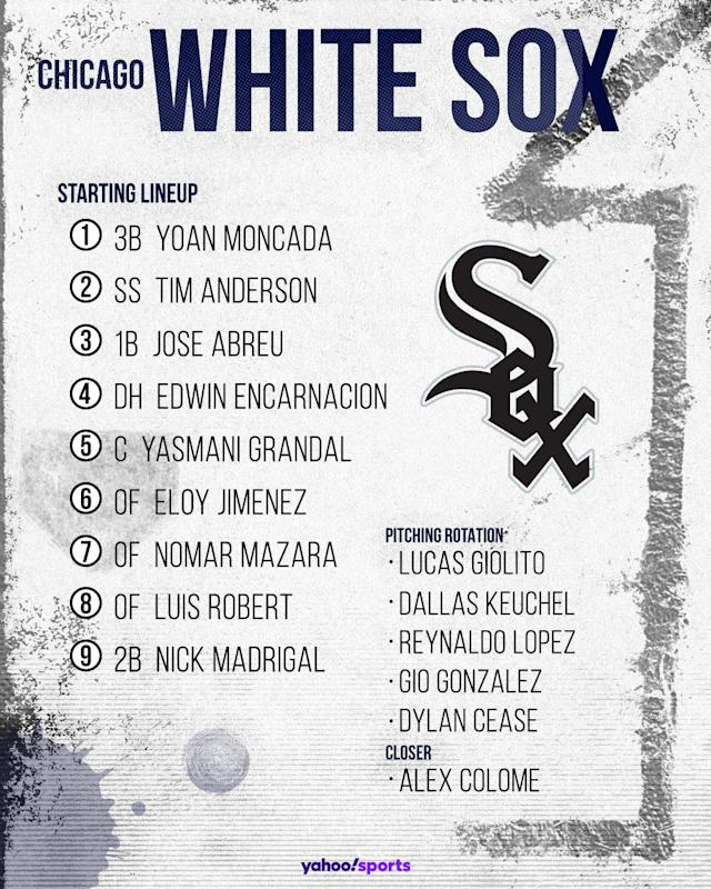 Chicago White Sox projected lineup. (Photo by Paul Rosales/Yahoo Sports)