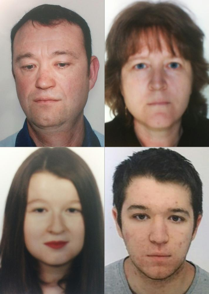 Pascal, Brigitte (top row), Charlotte and Sébastien