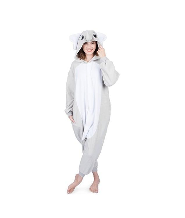 <p>Throw on some slippers with this sweet <span>Elephant Onesie</span> ($32). </p>