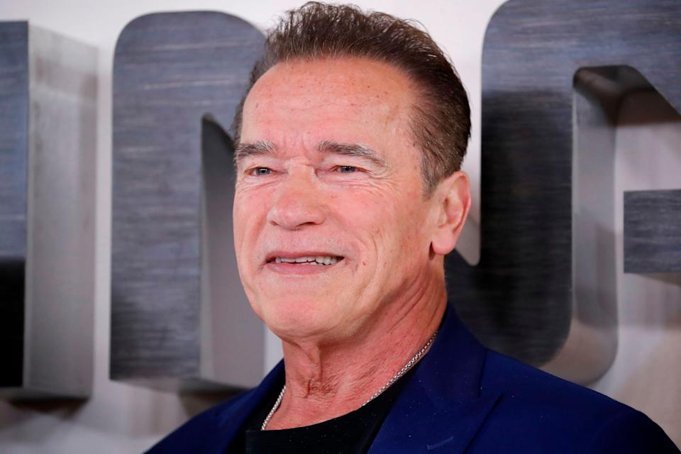 Arnold Schwarzenegger poses during a photo call to promote the film Terminator: Dark Fate in London on October 17, 2019. The former governor and actor has penned a touching letter to the mother of Ella Kissi-Debrah. (AFP via Getty Images)