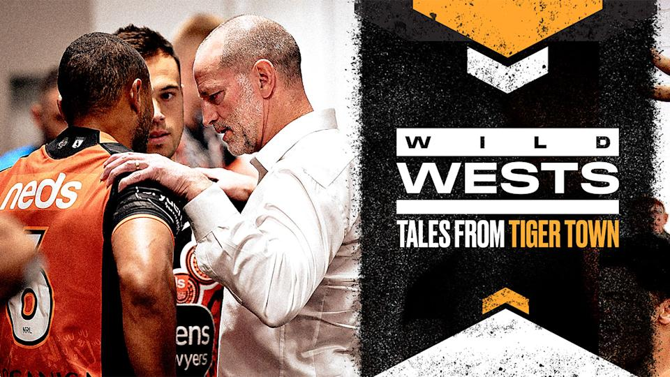 Seen here, a promotional photo for a new documentary series on the Wests Tigers.