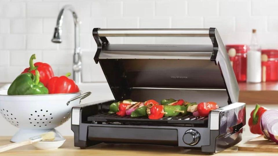 Grill your favorite meats and veggies indoors with Hamilton Beach.