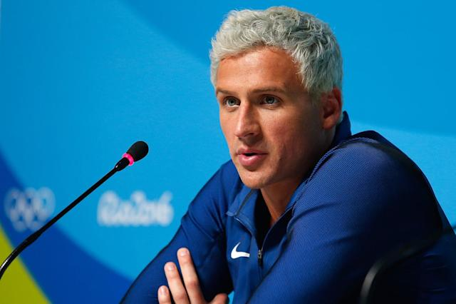 "<p>In what goes down in history as the most scandalous moment from Rio, famed swimmer and socialite Ryan Lochte was held up at gunpoint following a night out in Rio, but then he wasn't. Confused? Jeah, we all are. Lochte apparently ""overexaggerated"" the story and he wasn't held up but actually wreaked havoc at a gas station. The IOC is now investigating. (Photo by Matt Hazlett/Getty Images) </p>"