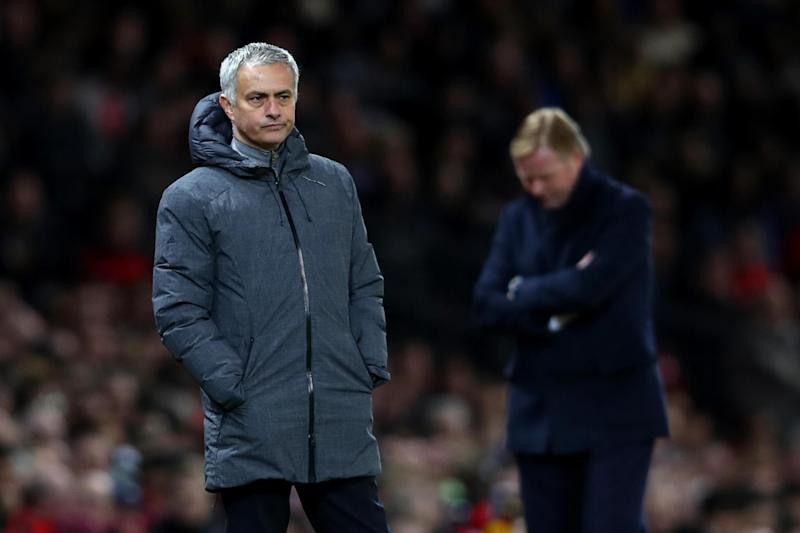 Frustrated figure: Jose Mourinho: Getty Images