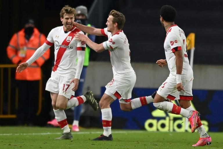 Stuart Armstrong (left) sealed Southampton's place in the FA Cup quarter-finals