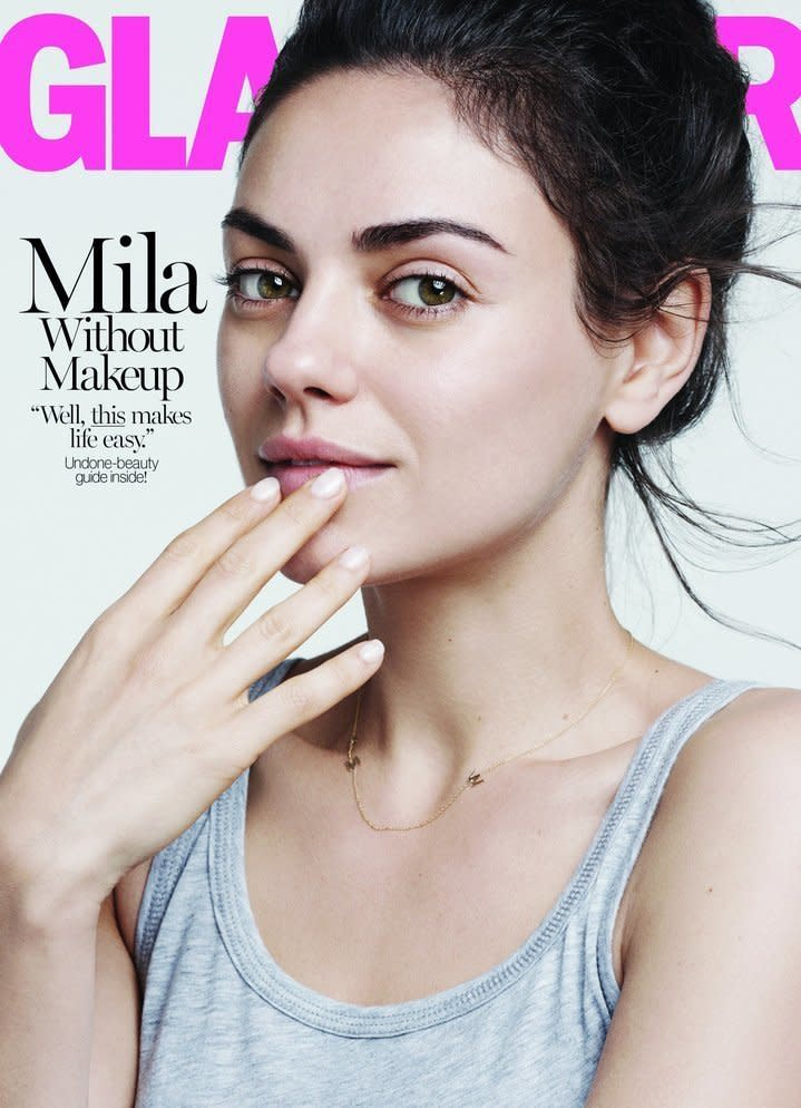 Makeup free is the way to be. (Glamour)