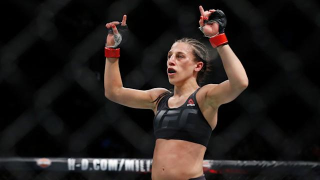 UFC strawweight champion Joanna Jedrzejczyk is one of the best pound-for-pound fighters in MMA. (Getty)