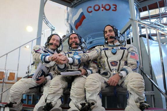 US-Russian Crew Launching to Space Station in Record Time