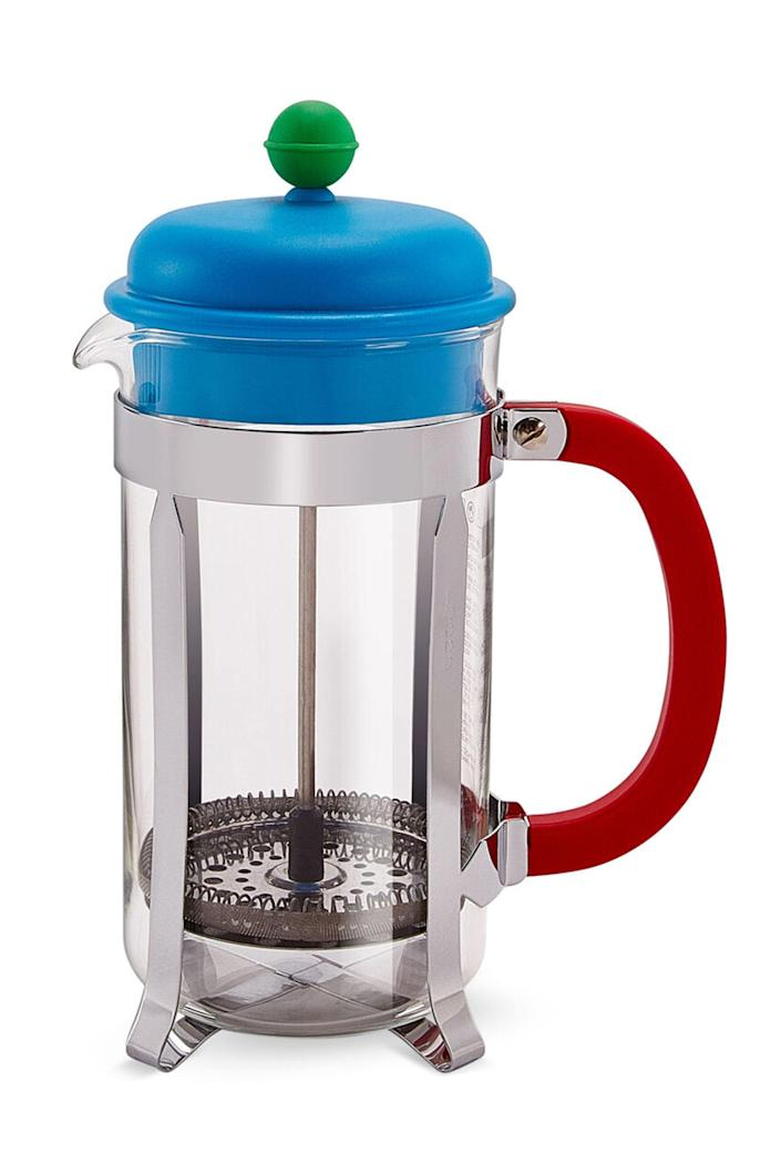 """<p><strong>Bodum</strong></p><p>moma.org</p><p><strong>$25.00</strong></p><p><a href=""""https://store.moma.org/for-the-home/kitchen-dining/coffee-tea/caffettiera-french-press/8742-146590.html"""" rel=""""nofollow noopener"""" target=""""_blank"""" data-ylk=""""slk:Shop Now"""" class=""""link rapid-noclick-resp"""">Shop Now</a></p><p>Get this for your work wife, who always catches your side-eyes in the middle of Zoom meetings. </p>"""