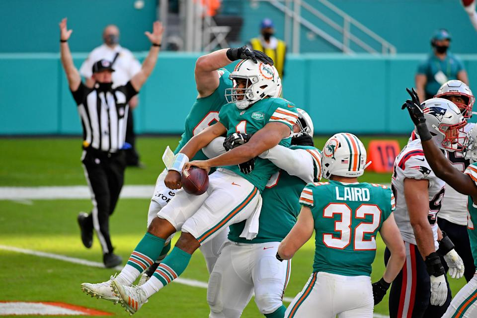 Tua Tagovailoa and the Miami Dolphins travel to New England to take on the Patriots on Sunday.