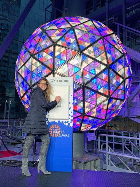 PHOTO: The ball is covered with 2,688 Waterford Crystal triangles and weighs 6 tons. (Morgan Korn/ABC News)