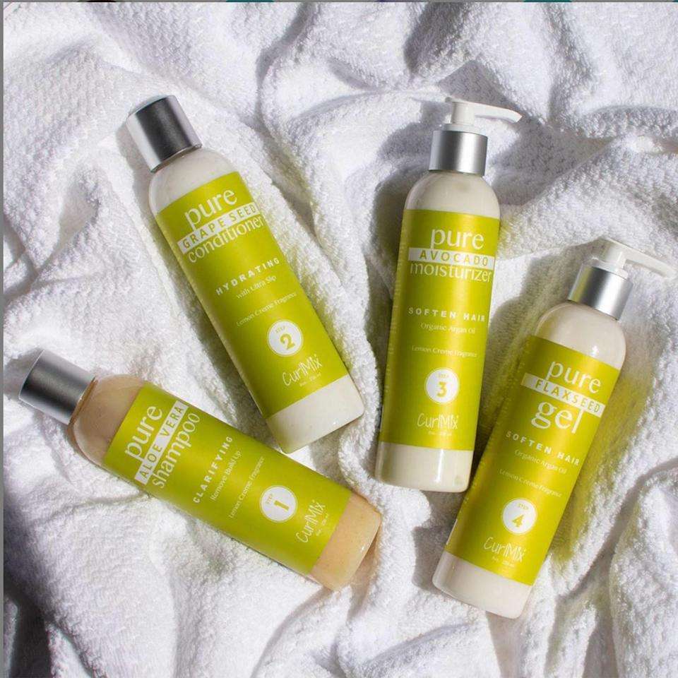 "<p>CurlMix was initially founded by Kim and Tim Lewis as a monthly subscription box service that included natural ingredients and recipes which let their customers create their own hair products. But in 2018, the Lewises launched their own collection. The brand has five different four-step kits with everything you need to get the wash-and-go of your dreams. Each contains a shampoo, conditioner, moisturizer, and gel, which you can also buy separately, if you want. Outside of the kits, you can scoop up one (or a few of) the oil-based serums they offer.</p> <p><a href=""https://www.curlmix.com/"" rel=""nofollow noopener"" target=""_blank"" data-ylk=""slk:Shop Now"" class=""link rapid-noclick-resp""><strong>Shop Now</strong></a></p>"