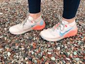 <p>These are the exact pair of <span>Nike Wildhorse 7</span> ($130) sneakers I've been using. As you can see, they're well loved. They're comfortable, easy to wear, and have taken me up literal mountains. I can't say enough good things about them.</p>