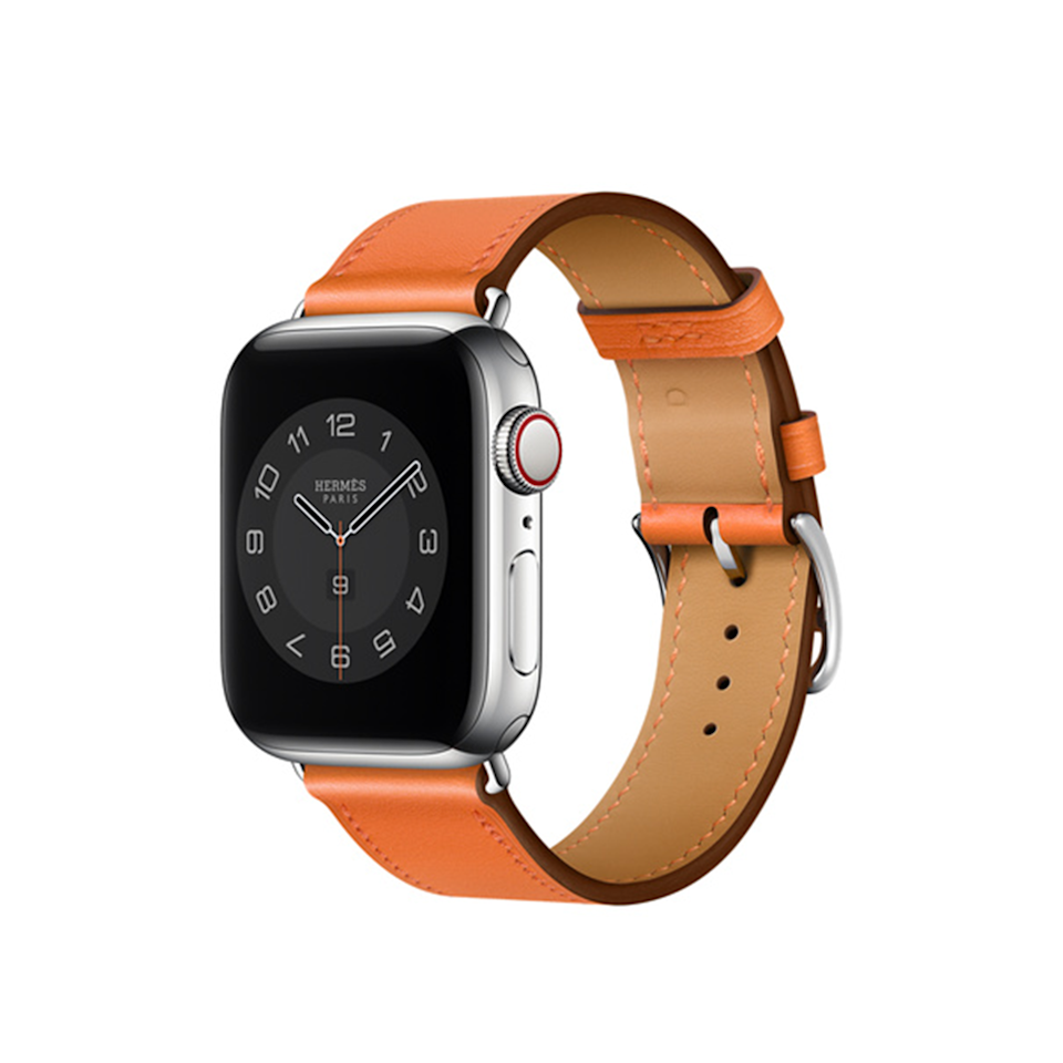 """In the market for an Apple Watch-faithful who just needs an upgraded band? Look no further than this tangerine-colored Hermès piece, which is handcrafted from the butteriest of leathers. $399, Apple. <a href=""""https://www.apple.com/shop/product/MXTM2AM/A/apple-watch-herm%C3%A8s-40mm-orange-swift-leather-single-tour"""" rel=""""nofollow noopener"""" target=""""_blank"""" data-ylk=""""slk:Get it now!"""" class=""""link rapid-noclick-resp"""">Get it now!</a>"""