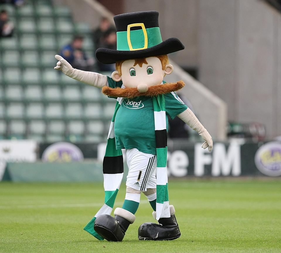 Plymouth Argyle's mascot Peter the Pilgrim could be normal, until an enormous moustache was plastered on his face. Coupled with a giant scarf that he must trip over at least once a season, this is not a great look.