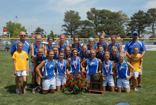 Nicole Shutt was a key contributor to the Martensdale-St. Mary's state title team while still a freshman — Facebook