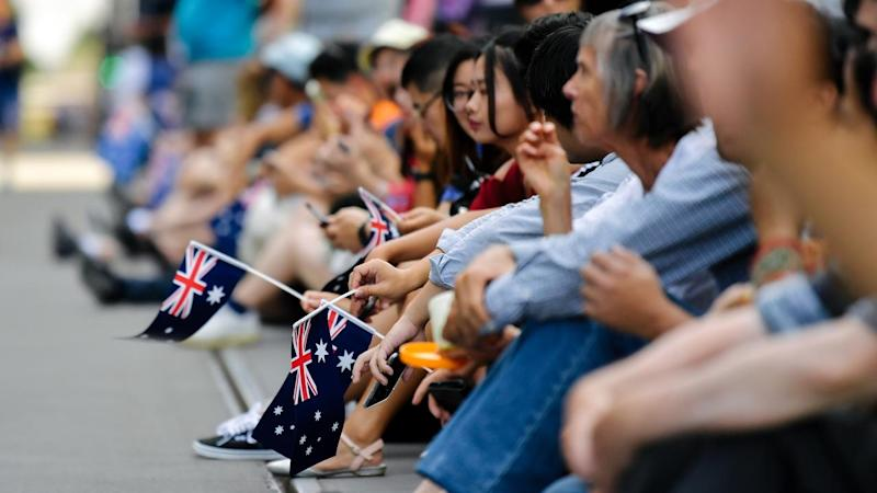 A parade through Adelaide's city centre is the highlight of the city's Australia Day festivities