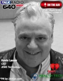 "JEMS Technology CEO Kevin Lasser to Be Interviewed Live on iHeart Radio / Clear Channel Atlanta Studios -- 640 WGST AM's ""HealthTech Talk Live"" on January 24, 2015"