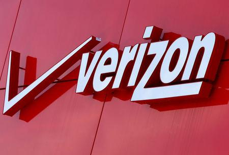 FILE PHOTO:    The logo of Verizon is seen at a retail store in San Diego, California April 21, 2016. This logo has been updated and is no longer in use. REUTERS/Mike Blake/File Photo