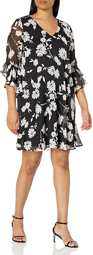 """<br><br><strong>Calvin Klein</strong> Printed Dress, $, available at <a href=""""https://amzn.to/2YYvb6Y"""" rel=""""nofollow noopener"""" target=""""_blank"""" data-ylk=""""slk:Amazon"""" class=""""link rapid-noclick-resp"""">Amazon</a>"""