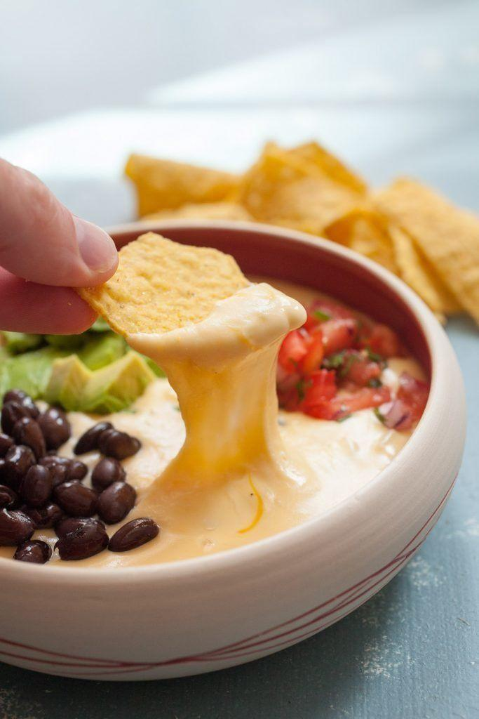 """<strong>Get the <a href=""""https://www.macheesmo.com/macheesmo-mud/"""" target=""""_blank"""">Queso recipe</a>from Macheesmo</strong>"""